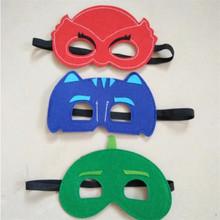 3pcs/setPj masks party sleeping eye mask PJ Masks figure characters catboy owlette gekko cloak action figure toy For Child gift(China (Mainland))