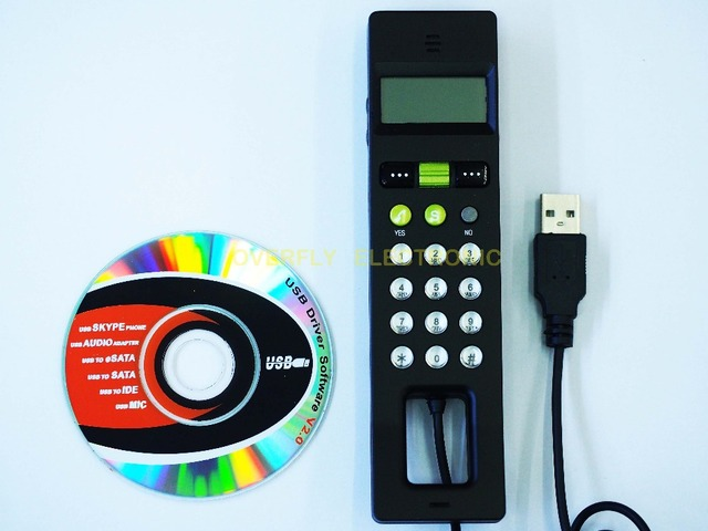 Free Shipping USB2.0 Phone with 2GB Flash Memory skype USB Phone Handset Voip phone,LCD USB Phone