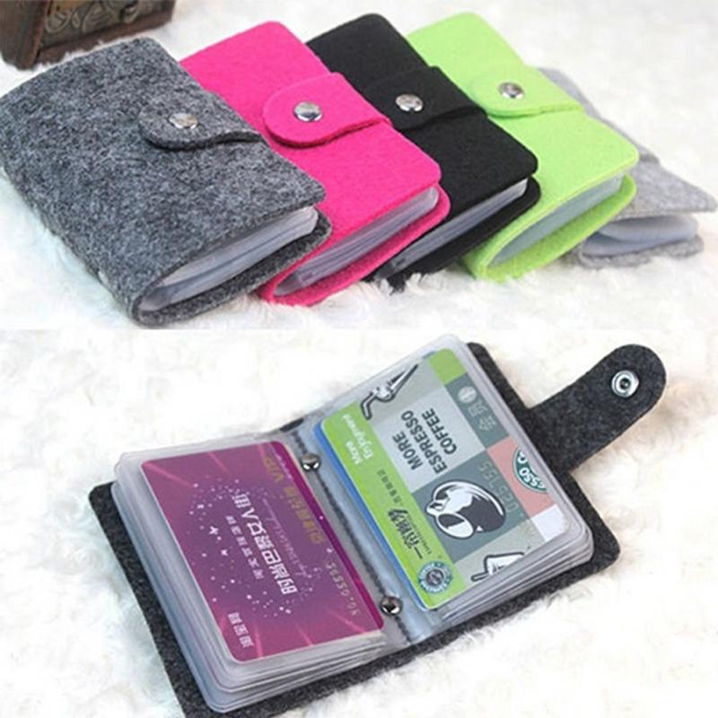 Wool felt credit card name card holder wallet button cover business getsubject aeproduct colourmoves
