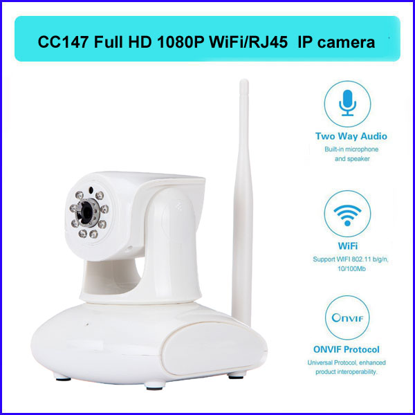 P2P wireless IP camera cctv DDNS 1080P HD IR night vision H.264 RJ45 WiFi support iOS Android Mobile Phone/PC CC-147 - QX Store store