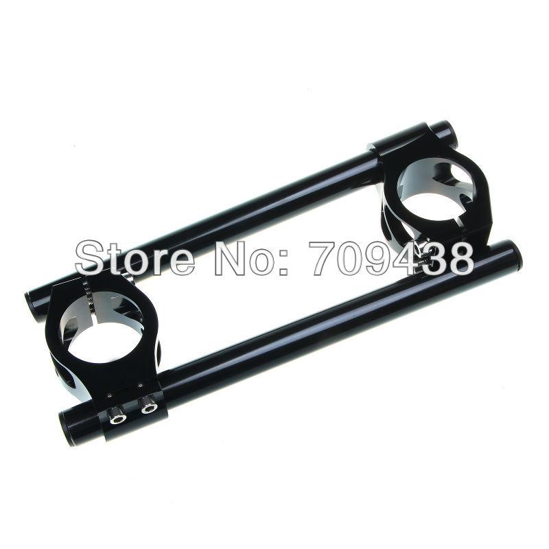 53MM CNC Clip On Ons Handle Bar For APRILIA MILE FALCO TUONO RSVR DUCATI 748 /749 /916 /996 /998 /999 /848 /1098 /1198 BLACK<br><br>Aliexpress