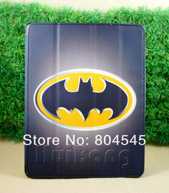 batman Magnetic Hard Leather Case + Smart Cover For New for iPad mini