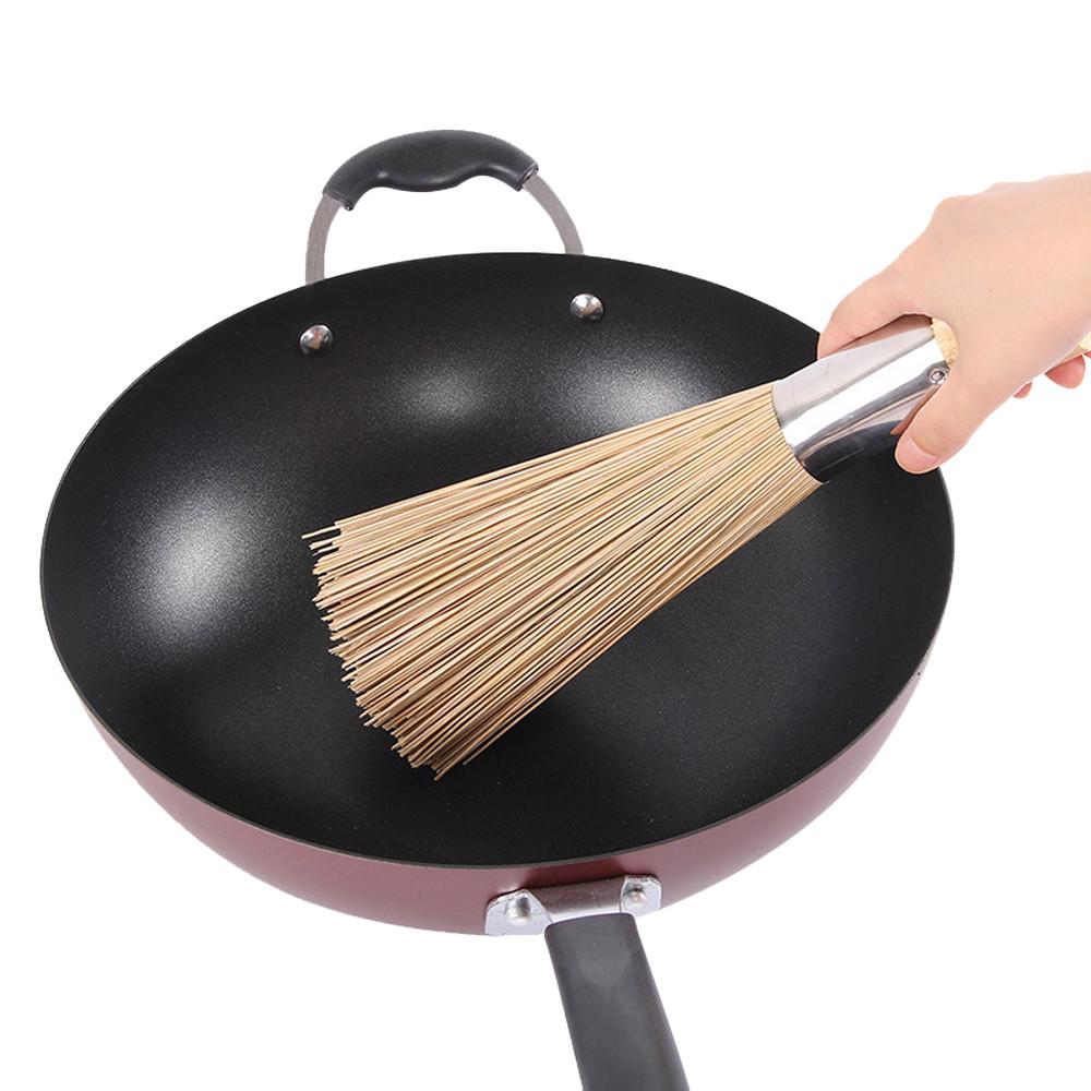 Bamboo Wok Brush Cooking Clean Tool Utensils Restaurant Kitchen Practical