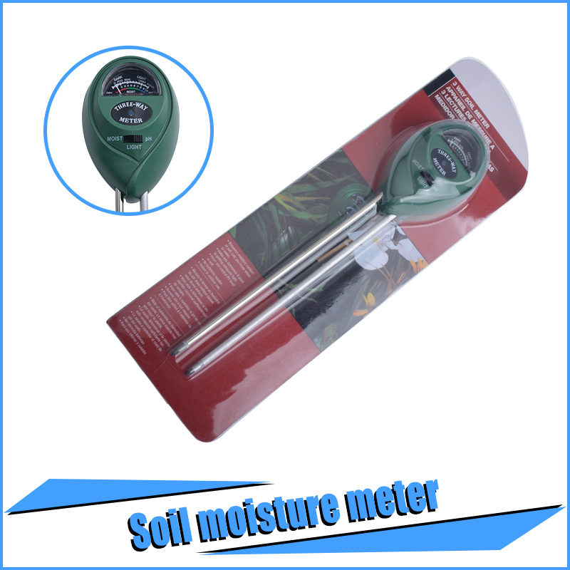 New 3-in-1 Soil Moisture Meter for Gardening Farming with pH Acidity Moisture and Sunlight Testing Usage 100pcs/lot(China (Mainland))