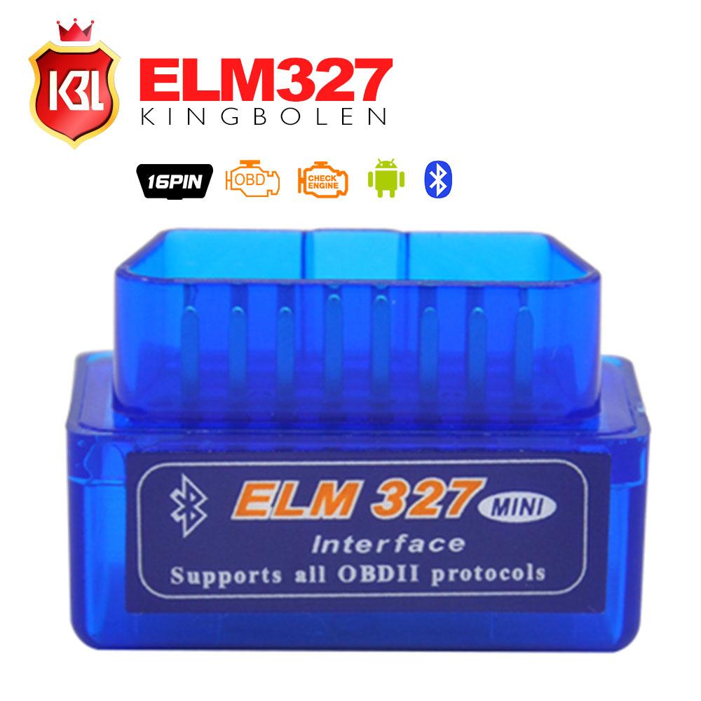 2015 Free Shipping Super Mini ELM327 Bluetooth Interface V2.1 OBD2 II Auto Diagnostic Tool ELM 327 Work ON Android Torque/PC(China (Mainland))