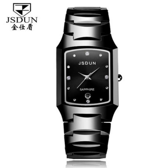 Top Grade Woman Quartz Watch JSDUN Brand Luxury Women Dress Watches Fashion Tungsten Steel Strap Wristwatch 137
