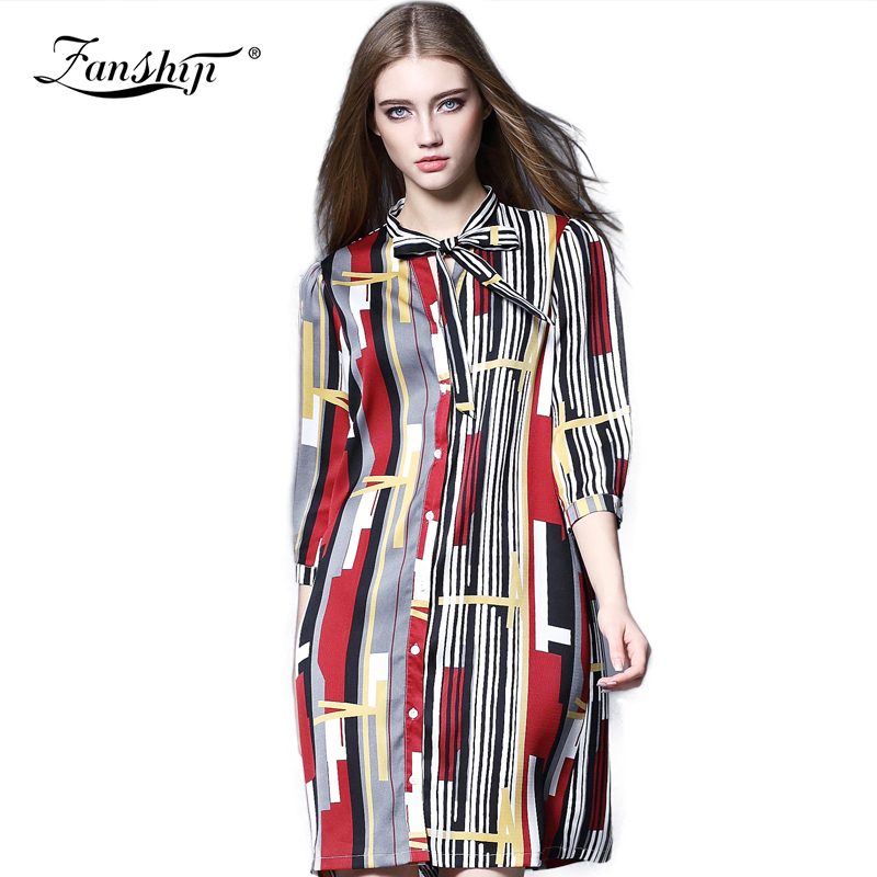 2016 New Arrival Spring Dresses Plus Size Loose Casual Women Party Dresses Ladies Print Women Dress  Female Office ClothesОдежда и ак�е��уары<br><br><br>Aliexpress