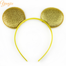 10pcs/lot Chic European Baby Gilr Gold Minnie Mouse Hairband Trendy Baby Girl DIY Hair Accessories For Kids Children Headwear(China (Mainland))