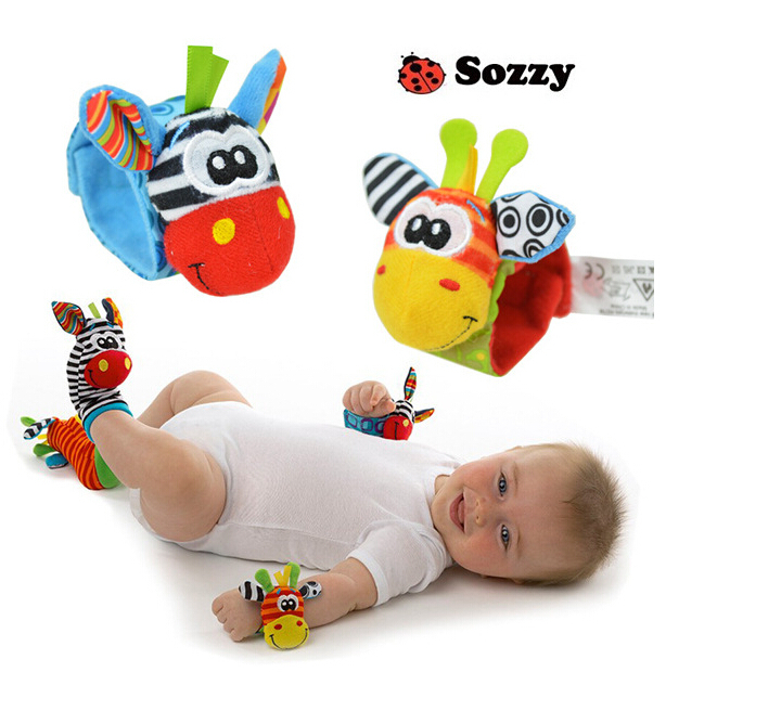 Hot New Infant Baby Kids Toy Sock And Wrist Rattles Educational Toddler Toys for Newborns Toy Gift for 0-12 Months Old(China (Mainland))