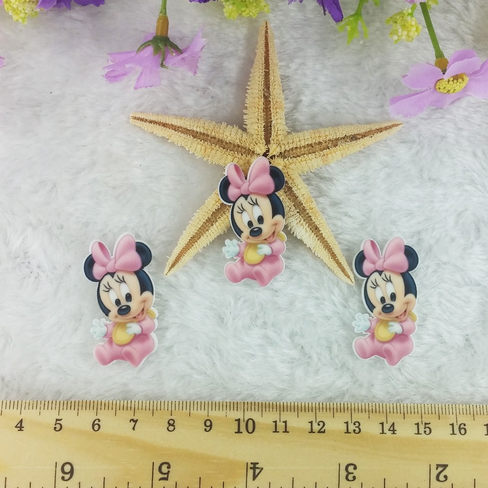 Free-shipping 2baby minnie mouse flat back resin crafts - Bunny Ribbons & Crafts store