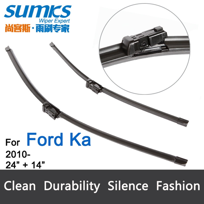 "Wiper blades for Ford KA (from 2010 onwards) 24""+14"" fit push button type wiper arms only HY-011(China (Mainland))"