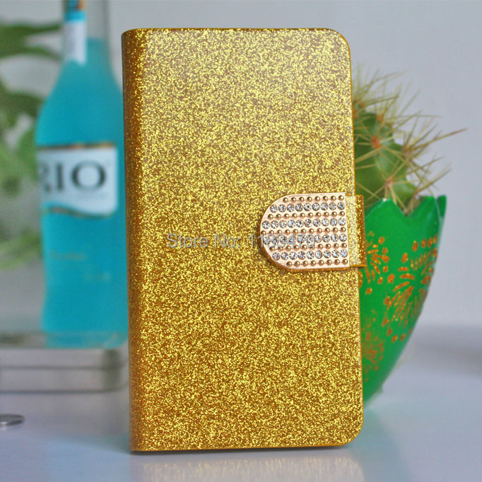 New Arriva Glitter Leather Bling Phone Cases For Huawei Ascend P8 Rhinestone Case With Stand Function Card Holder(China (Mainland))