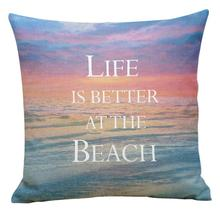 Buy 2017 New Fashion Fresh Ocean Letter Printing Dyeing Soft Pillow Cover Cushion Case Housse De Coussin Pillow Cases Book Li for $2.70 in AliExpress store
