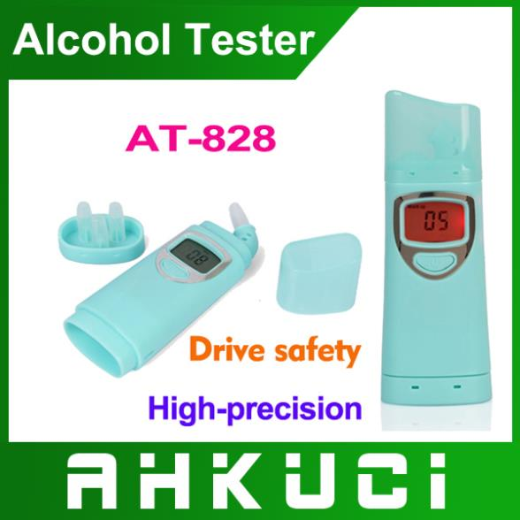 Free shipping AT-828 Patent Digital Breath Alcohol Tester with mouthpiece 5pcs/lot(China (Mainland))
