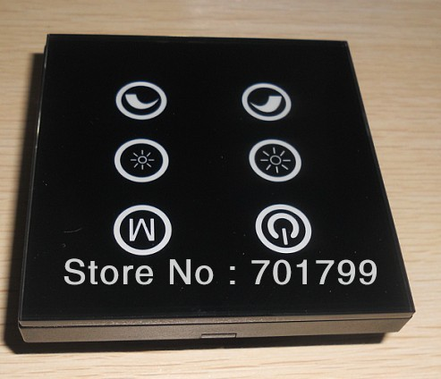 TM03,6key led touch panel controller,DC12-24V input;4A*3 channel output