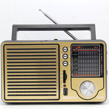 Antique vintage retro full-band FM radio older desktop support USB elderly consumer electronics gift free shipping