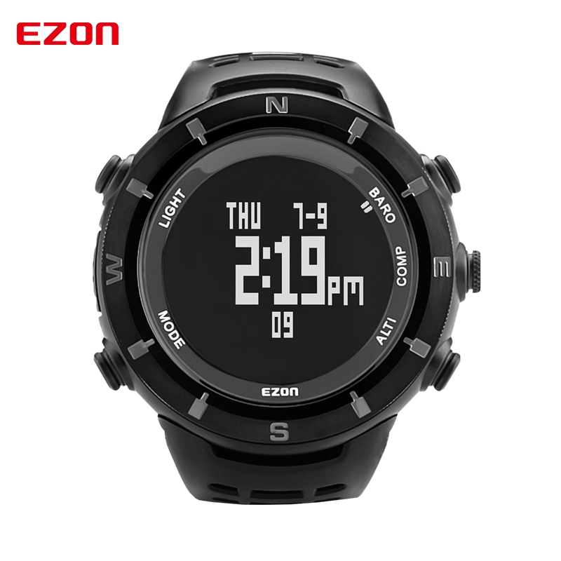 2016 Men Sports Watches EZON H001C01 Digital Watch Multifunctional Outdoor Climbing Wristwatches Altimeter Barometer Compass(China (Mainland))