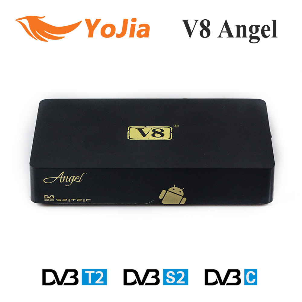 10pcs V8 Angel DVB-S2&T2/C Satellite Terrestrial Cable Combo Receiver Android TV BOX Tuner IPTV Live Streaming Online(China (Mainland))
