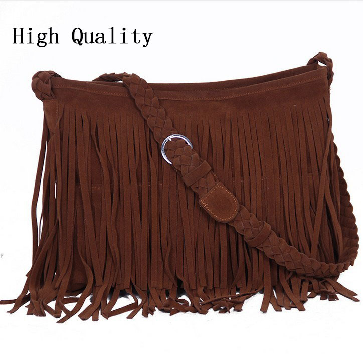 bolsa feminina hot womens messenger bags vintage leather handbags designer tassel bag cross body shoulder bag hobos bolsa franja(China (Mainland))