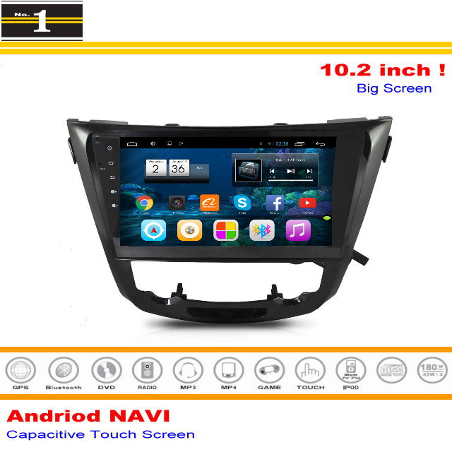 """For Nissan Rogue 2013~2015 - Android GPS Navigation Multimedia System / 10.2"""" HD Screen Radio Audio Video Stereo No DVD Player(China (Mainland))"""