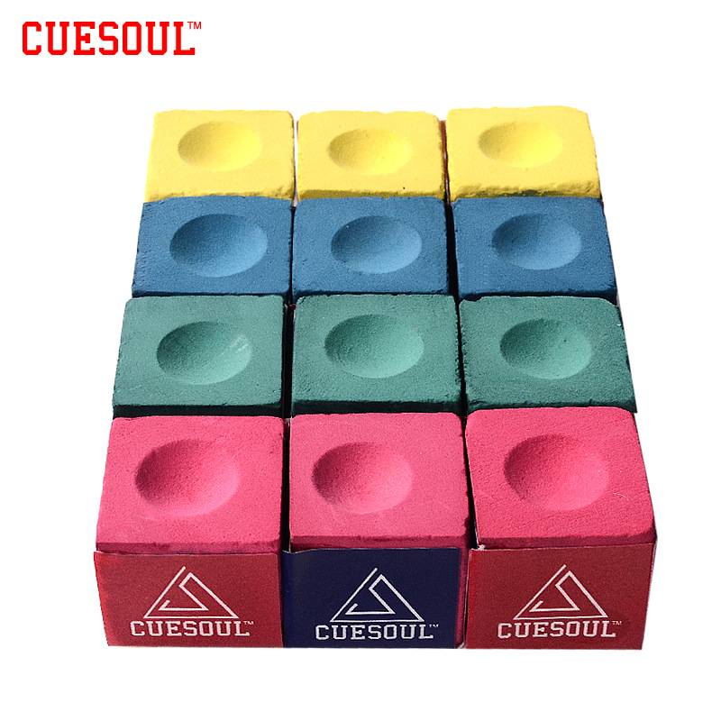Cuesoul 3pcs/set Billiard Chalk Snooker Chalk Pool Cue Chalk Pink Green Blue Yellow(China (Mainland))