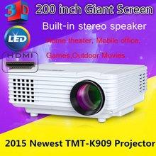 Tumetimes TMT-K909 Home Projector 4000 Lumens Portable Multimedia Home Cinema Theater 3D HD Projectors 1024*768 USB/AV/SD/HDMI(China (Mainland))