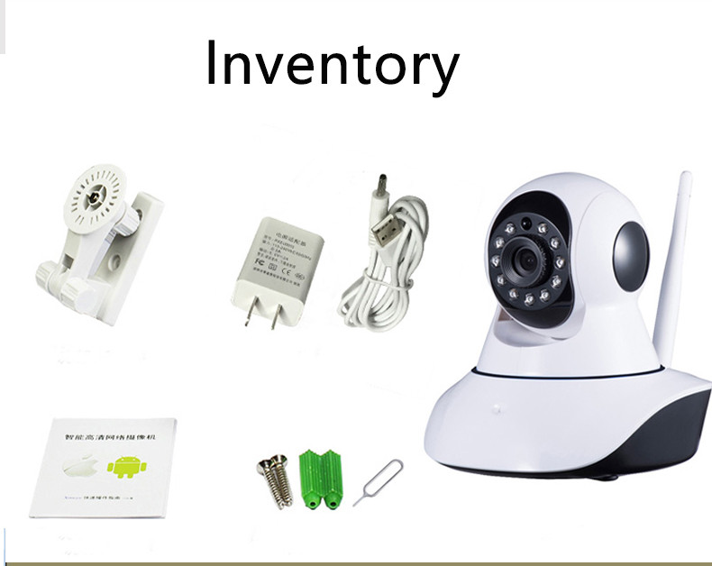 720P HD IP Camera Wireless Wi-fi Wifi CCTV Indoor Pan/Tilt IR CUT Night Vision Support 64G SD Card Baby Monitor Audio Recording