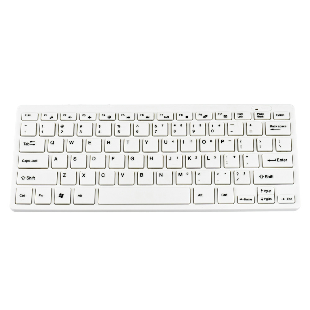 White Color  2.4G Ultra-Slim Mini Wireless Keyboard And Mouse Combo For PC Desktop  With Package