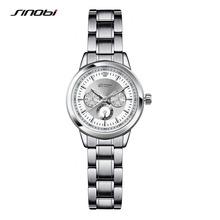 SINOBIสตรีแฟชั่นที่ดีที่สุดนาฬิการ้านหญิงโบราณRose G Oldเจนีวาควอตซ์-นาฬิกาสุภาพสตรีแบรนด์นาฬิกาข้อมือrokas pulkstenis
