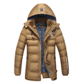 Thermal Brand Clothing Winter Coat Men Long Coat Cotton Padded Clothes Warm Jacket Bigger Size Cotton