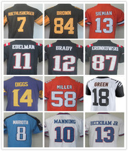 Men's 58 Von 13 Trevor 12 Tom 87 Rob 11 Julian 84 Antonio Brown 26 Le'Veon Bell 14 Stefon 18 A.J. Green Color Rush jersey(China (Mainland))