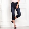 Women jeans calf length pants denim jeans summer slim pencil pants blue jeans cotton washed shorts