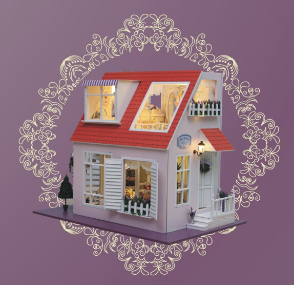 Diy Doll House Model Building Kits 3D Miniature Handmade Wooden Dollhouse Light Birstday Greative Gift Toy<br><br>Aliexpress