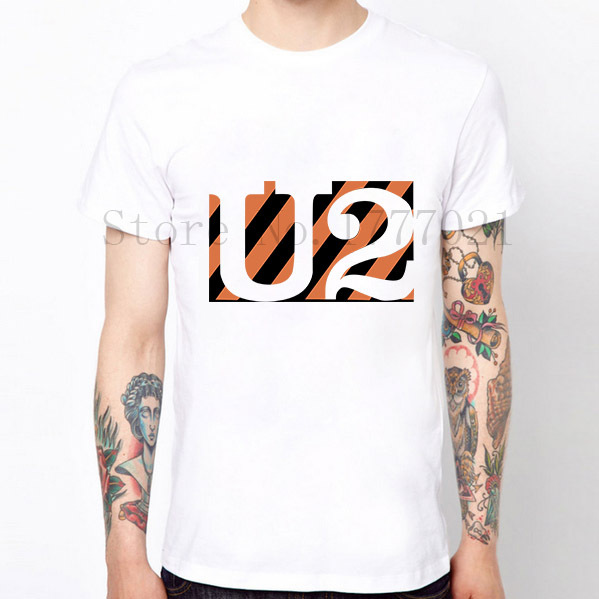 New Arrival Men Summer T-shirts British Band U2 Design T Shirts Rock Style Vintage Tshirts Tops Cotton Tees S-XXL Size Clothing(China (Mainland))