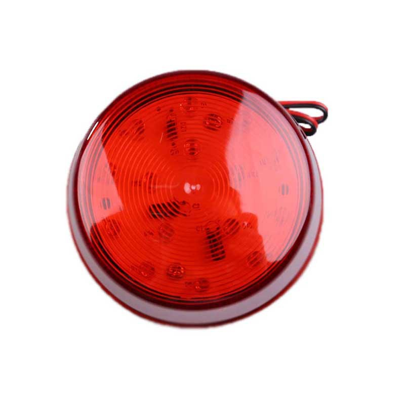 12V LED Alarm Security Signal Lamp Warning Siren with Red Flashing Light E1Xc