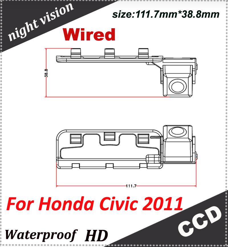 parking camera HD Night vision CCD 170 degree Parking assistance Security For Honda Civic 2011 car rear backup camera(China (Mainland))