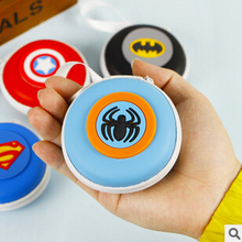 New Arrival Novelty Super Hero Silicone Coin Purse Key Wallet dual Earphone Organizer Box