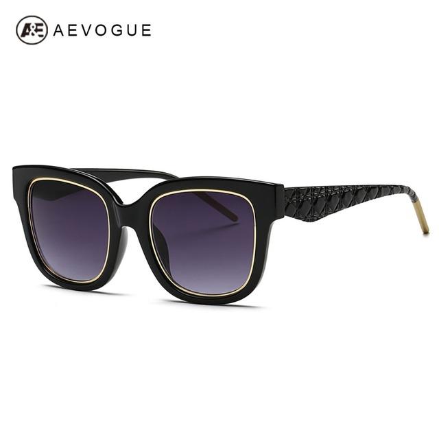 Aevogue очки женщины стимпанк классический оттенки летний стиль марки дизайна старинные очки для покрытий зеркало UV400 AE0351