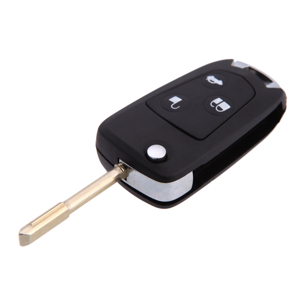 Brand New Flip Remote Cheap Folding Car Remote Flip Key Shell Case Fob for Ford Mondeo Fiesta Focus Ka 3 BUT Blade(China (Mainland))