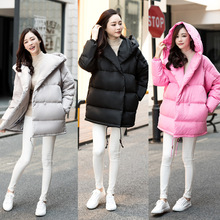 High Quality Fashion Design Oversized Cute Parkas Hooded Duck Down Jacket Super Warm Women Down Coat Maternity Dress Plus Size