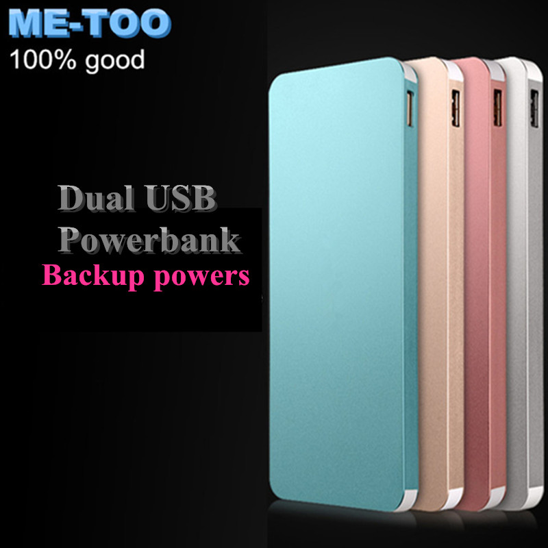 2016 New Mobile Power Bank Ultrathin powerbank portable charger external Battery mobile phone charger Backup powers(China (Mainland))