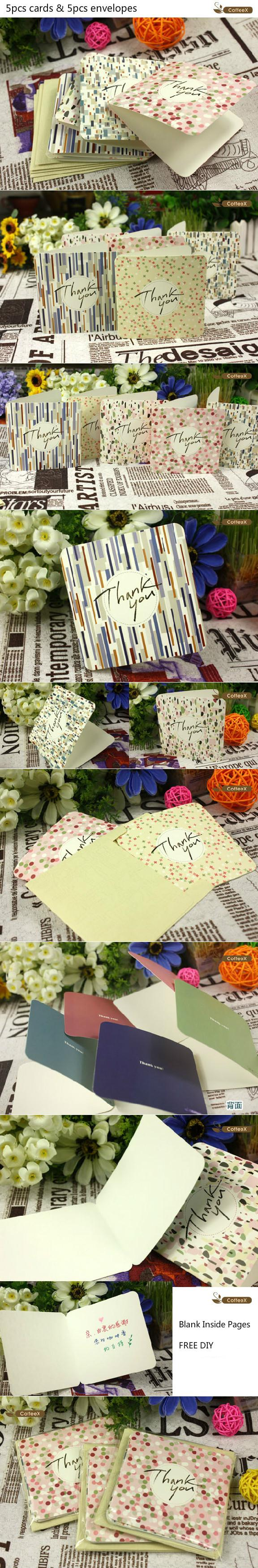 2018 Wholesale Pack Delicate Thanks Giving Blank Greeting Cards