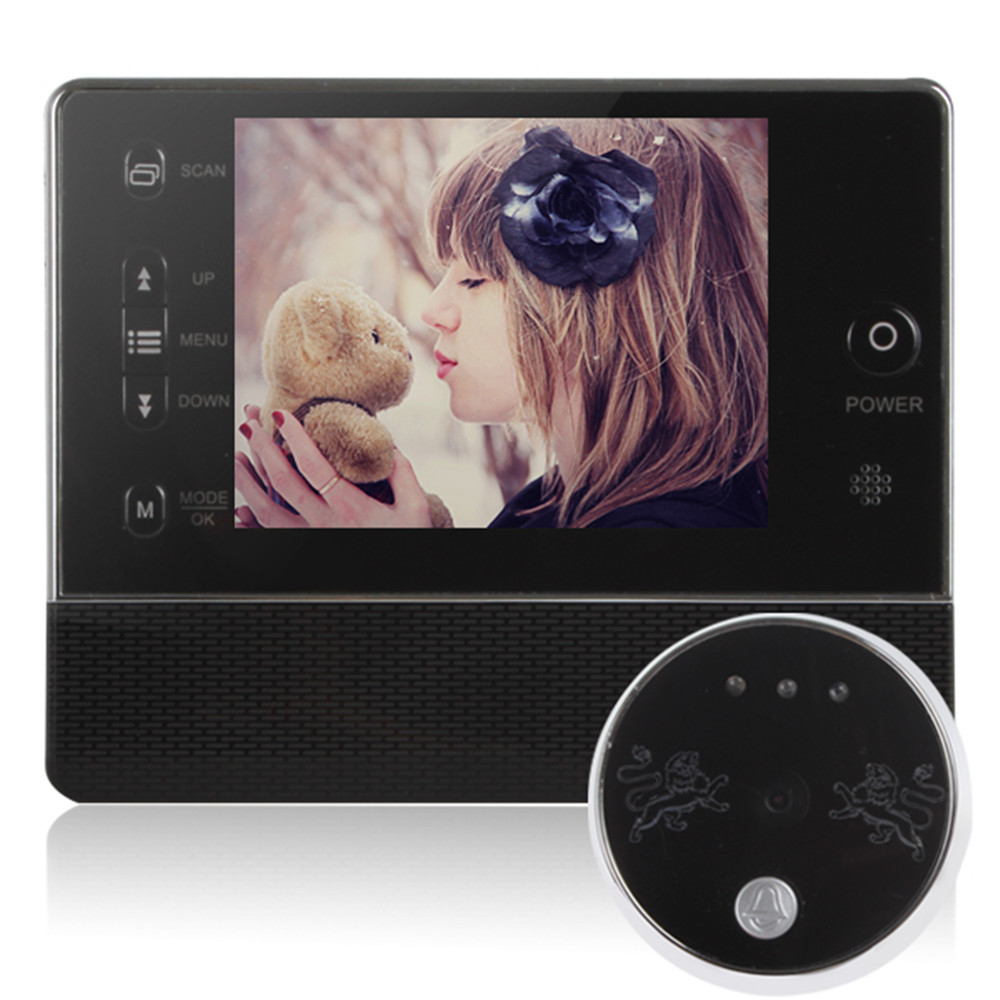 High Quality 3.5 Inch LCD Screen 120 Degree Angles Digital Door Peephole Viewer with Doorbell &amp; Video Recording<br><br>Aliexpress