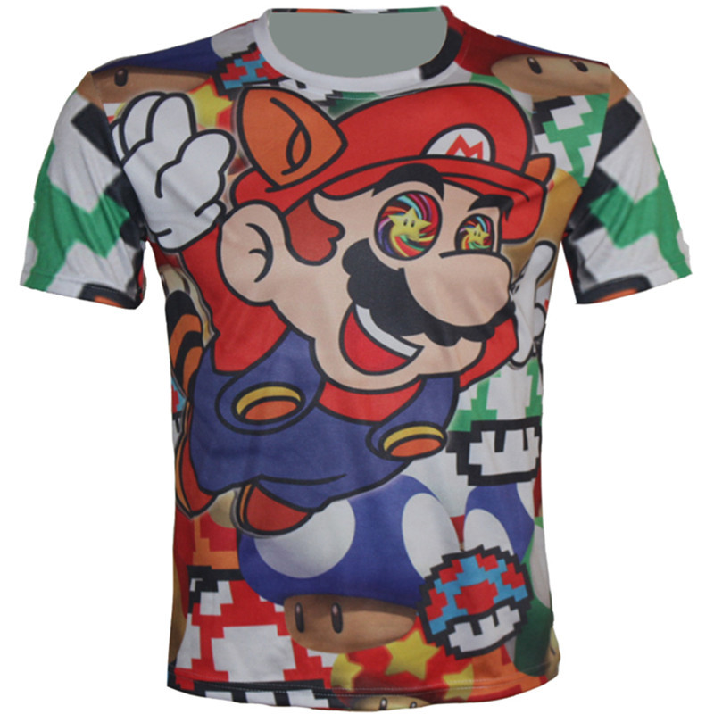 T Shirts Cartoon Characters : New round collar short sleeve t shirt cartoon