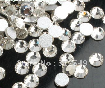 SS5(1.7mm)--High Shine 1440pcs Crystal white/silver Nail rhinestones high quality Gems