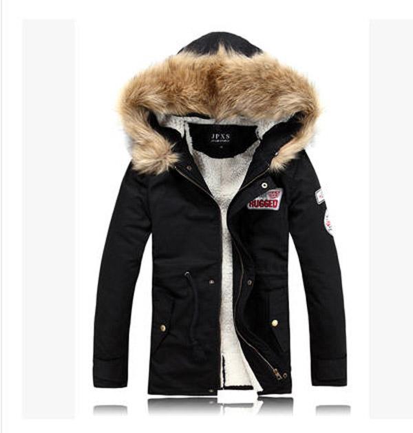Men Winter Jacket Military Equipment Rabbit Fur Collar Male Wool Coat Clothes Outwear Chaquetas Hombre J206 - yue clothes store