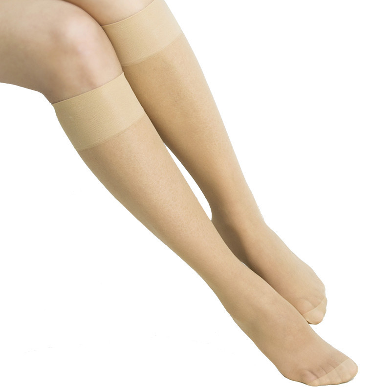 2015 Fashion 1 Pair Women Mid-Calf Length Solid Thin Hosiery Tights Stockings Medias 2 Colors Wholesale(China (Mainland))