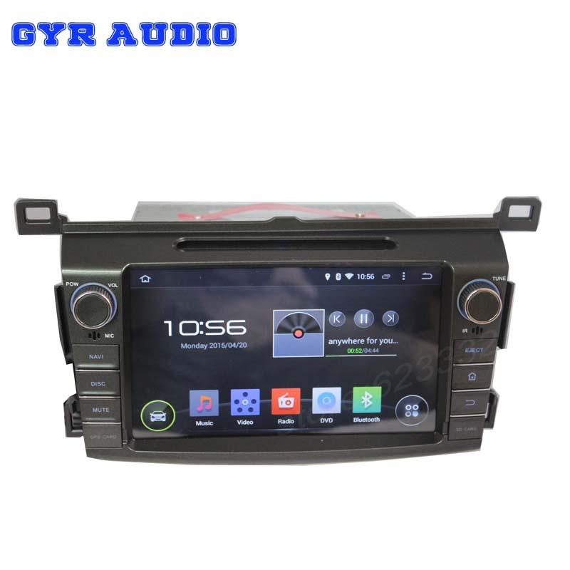 quad core 1024*600 screen Android 4.4 Car dvd GPS navigation player toyota rav4 2013 2014 3g WIFI BT radio usb - GYR Audio store