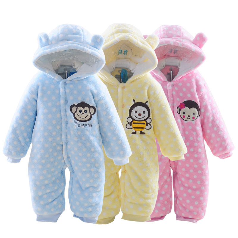 2015 Autumn Winter Baby Clothes Baby Rompers Polar Fleece ...