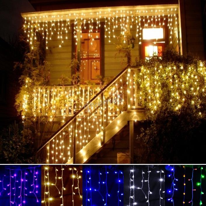 Гаджет  christmas outdoor decoration 3.5m Droop 0.3-0.5m curtain icicle string led lights 220V Newyear Garden Xmas WeddingParty SV011321 None Свет и освещение
